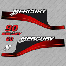 Mercury 90 hp Two Stroke outboard engine decals RED sticker set reproduction
