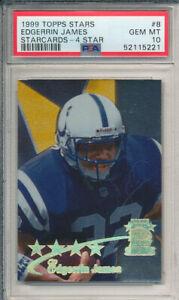 PSA 10 1999 Topps Stars Edgerrin James 4 Star Starcards Colts RC HOF