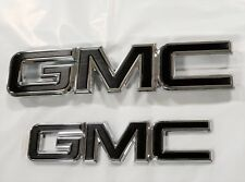 2015-2018 GMC Yukon Yukon XL Grille and Liftgate GM Black Emblems 84395036 OEM