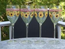 """4 Pfaltzgraff Pistoulet Glasses 9 1/4"""" Mint Condition"""