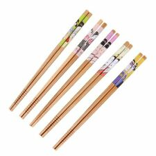 Reusable Food Chop Sticks Handmade Wood Utensils Eco-friendly Tableware 5 Pairs