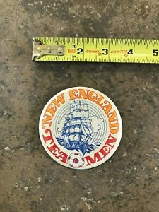 Defunct NASL New England Tea Men Soccer, Vintage 1978 Team Logo Pinback Button