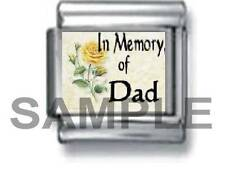 IN MEMORY OF MY DAD 9MM ITALIAN PHOTO CHARM LINK love family daughter son father