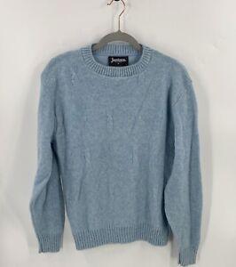 VTG Jantzen Mens Sweater Size Medium Baby Blue Wool Long Sleeve Pullover Solid