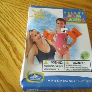 New INTEX Deluxe ARM BANDS One Pair CHILD Swim POOL BEACH Float AGE 3 and UP