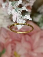 24k solid gold ring hand made in uk