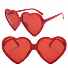 Retro Women Fashion Heart Shaped Sunglasses Shades Vintage Cat Eyeglasses