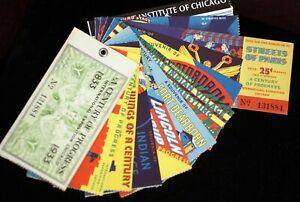 Century of Progress 1933 Chicago Exposition Souvenir Tickets Ticket Book + Map