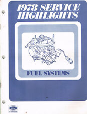 1978 Ford Motorcraft Service Highlights Manual Fuel Systems M341  M339