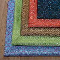 1M Brocade Fabric Damask Imitated Silk DIY Floral Costume Material Craft Sewing