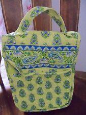 Vera Bradley Retired Citrus Elephant Print Lunch Bag Box Tote EUC