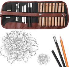 29 Pcs Professional Drawing Artist Kit Set Pencils & Sketch Charcoal Art Tools