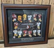 FSU Framed Evolution History Florida State Seminoles Uniforms Print Football NEW