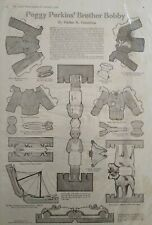 1919 Peggy Perkins Brother Bobby Vintage Uncut Paper Doll