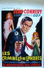 NO ROAD BACK Belgian movie poster SEAN CONNERY JAMES BOND RENATO CASARO RARE NM