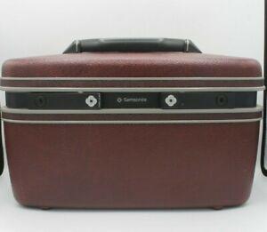 Vintage Samsonite Makeup Travel Hard Case Luggage