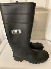 Men's Rubber Work Boots Waders Size 9 Black Neoprene Steel Toe Mucks Canada