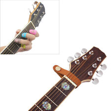 1set Classic Guitar Bass Leather Guitar Strap Holder Button Stringed For GuitaCP