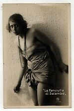 VINTAGE ITALY THEATRE RPPC Real Photo Postcard SALAMBO Actress SALAMMBO Flaubert