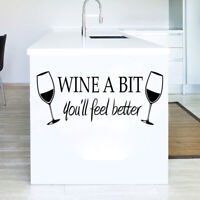 Removable Letter Kitchen Bar Wine Decal Wall Sticker DIY Craft Mural Decor