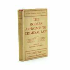 The Modern Approach To Criminal Law, P.H. Winfield 1948 2nd Imp Very Good