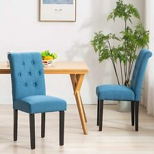 Modern Dining Chair Set of 2 Upholstered Kitchen Room Armless Chair Furniture