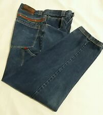 "Mens Vintage ""GET ROUGH USA"" Carpenter Jean Medium Wash Loose fit 33 X 32 inseam"