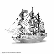 Black Pearl: Metal Earth 3D Laser Cut Pirate Ship Miniature Model Kit 2 sheets