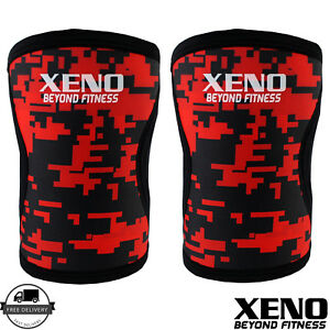 XBF 7MM Knee Sleeves Support Crossfit Power Weight Lifting Squats Patella Brace