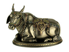 Bronze Finish Nandi the Sacred Bull Gatekeeper of Shiva and Parvati Statue
