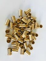 "50 PCS 1/2"""" PEX PLUG (END CAP) - BRASS CRIMP FITTINGS (LEAD-FREE)"