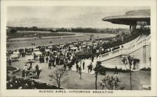 Buenos Aires Hippodromo Argentino Horse Racing Real Photo Postcard