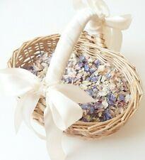 Flower girl basket with Flower petal confetti and ribbon - Children basket