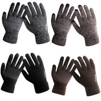Men's Winter Warm Fleece Lined Thermal Knitted Gloves Male Touchscreen Gloves US