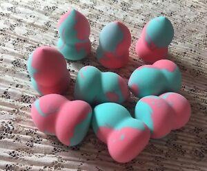 5pcs Green*Pink Makeup Gourd Sponge Beauty Tool Blender Power Puff Applicator