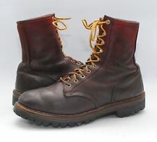 Vintage 80's RED WING Irish Setter Brown Leather Hunting Outdoor Work Boots 9.5