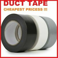 DUCK DUCT GAFFA GAFFER WATERPROOF CLOTH //BLACK//SILVER TAPE 50MMX 50M Free Delive