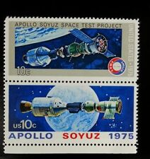 1975 10c Apollo Soyuz Space Test Project, Pair Scott 1569-70 Mint F/VF NH