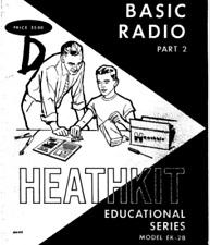 HEATHKIT EK-2B BASIC RADIO PART 2 EDUCATIONAL SERIES 134 page digital MANUAL