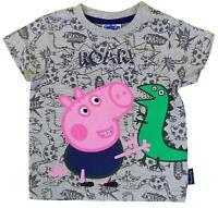 Boys T-Shirt Peppa Tee George Pig Roar Dinosaur Toddler Top 3 Months to 5 Years