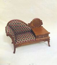 DOLLHOUSE MINIATURE Sofa  with Telephone Table (ONLY)