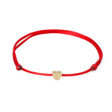 Simple Style Men Women Heart String Lucky Handmade Bracelet Adjustable Jewelry