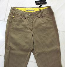 MARCCAIN Damen Jeans Hose N2 36 S Baumwollmischung taupe mit Linien