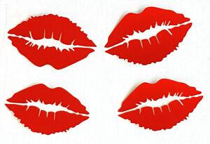 4x Auto Aufkleber Lippen Kussmund Kuss Wandtatoo Tatoo Möbel, Fenster, Glas kl