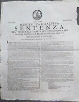 1801 13) MODENA REPUBBLICA CISALPINA TUMULTO PER PANE UOMO DI SAN MARTINO IN RIO