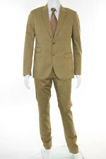 Neil Barrett Brown Cotton 2 Button Straight Leg Suit Size 48 $1435 New 106826
