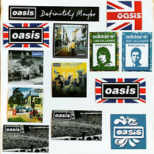 More details for 33 x oasis vinyl stickers - live forever manchester party decorations wonderwall