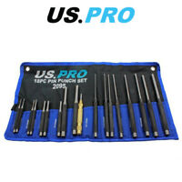 US PRO 18pc Pin Punch Set With Automotive Centre Punch 2095