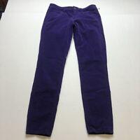 Loft Super Skinny Corduroy Pants In Purple Sz 27/4 A1314