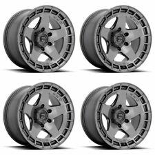 Set 4 17 Fuel D734 Warp 17x9 Matte Gun Metal 5x150 Wheels 1mm Rims 5 Lug Fits 2004 Toyota Tundra